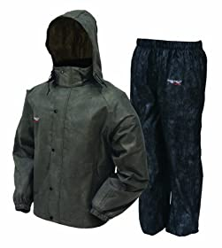 Frogg Toggs Men's All Sports Rain and Wind Suit, Stone/Black, X-Large