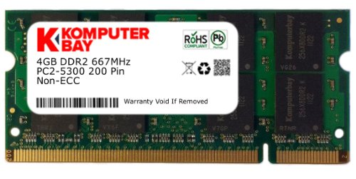 Komputerbay 4GB DDR2 SODIMM (200 pin) 667Mhz PC2 5400 / PC2 5300 CL 5.0