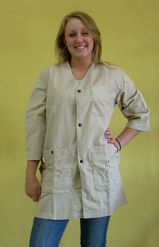 Art Smock- X-Large Natural (Light Buff Color)