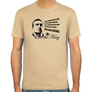 T-Shirt Eric Cantona ::: Farbauswahl: skyblue, sand, weiß oder deepred ::: Größen: S-XXL ::: Fußball-Kult