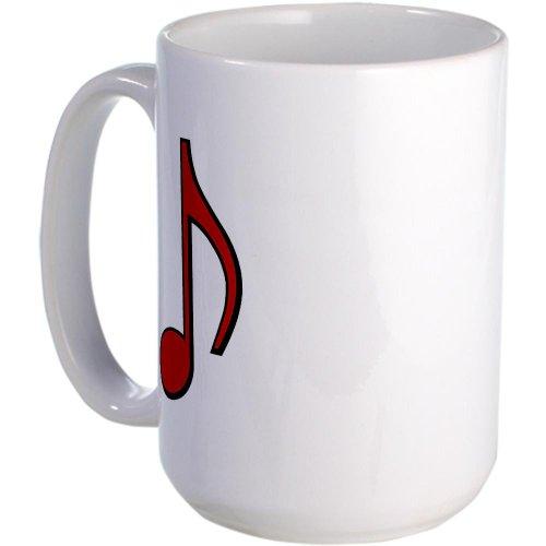 Cafepress Retro Red Note Large Mug - Standard