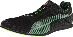 Puma Bolt Evospeed Long Dist Track Shoe,Black/Fluorescent Green,11.5 D US