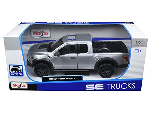 2017 Ford Raptor Pickup Truck Grey 1/24 by Maisto 31266 (Ford Raptor Model compare prices)