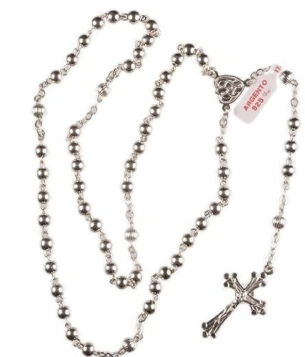 Sterling Silver Rosary Beads. Traditional Roman Catholic Rosary Beads