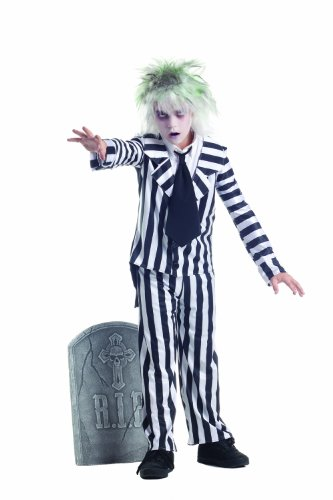 Party King Graveyard Ghost Child Costume - Three Sizes for Ages 4 to 14