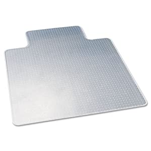 deflect-o CM13233 45 by 53-Inch Duramat Beveled Chair Mat for Low/Medium Pile Carpet, Clear