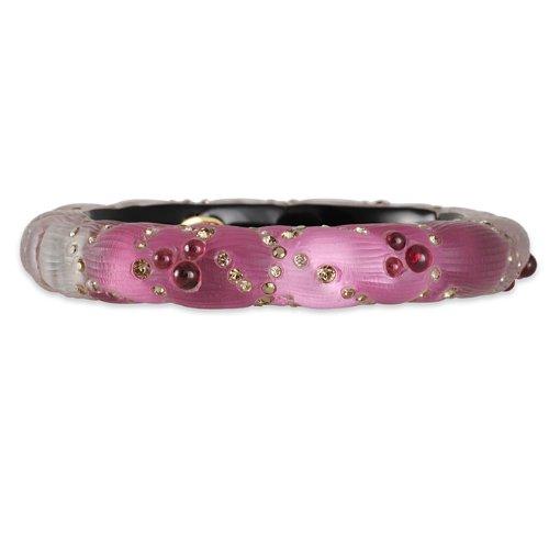 ALEXIS BITTAR- Garnet Berry Hinge Bracelet in Mauve