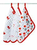 aden + anais 3 Pack Muslin Washcloths, Splish Splash