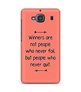 AMEZ but people who never quit Back Cover For Xiaomi Redmi 2S