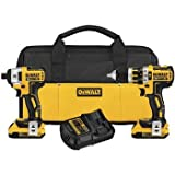 Dewalt DCK286D2 20V MAX XR Lithium-Ion Brushless Compact Drill/Driver & Impact Driver Combo Kit