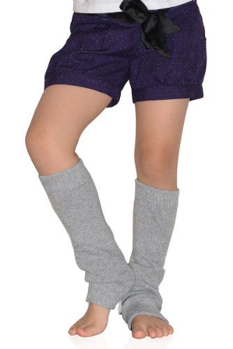 Fashion Mic Bejeweled Teddy Bear Leg Warmers Kid Size (Kid Size, Heather Gray) front-1009141