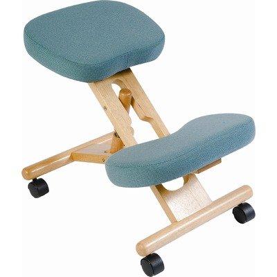 KNEELING Ergonomic Posture Kneeling Chair (with Wood Frame) - Burgundy