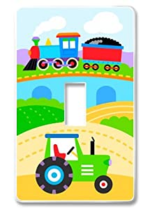 Olive Kids Trains, Planes & Trucks Light Switch Wallplate from Olive Kids