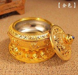 Quemadordeinciensorecipientesoporte Amarillo Oro florido