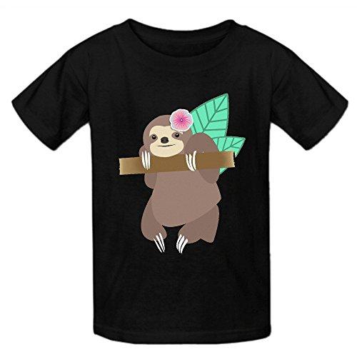 sloth-illustration-t-shirt-kids-black