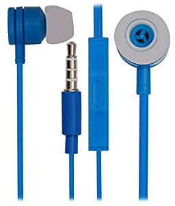 Jkobi 3.5mm In Ear Bud Handsfree Headset Earphones With Mic Compatible For Intex Aqua Strong 5.1 -Blue