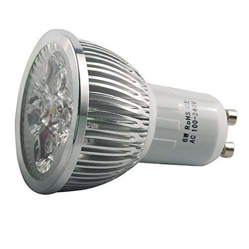 Jambo 4X Energy Efficient Gu10 Warm White 6W Led Ce Rohs Bulbs Spotlights Spot Light Lamp Lamps For Hotel Cafe Garden Shop Down Lighting