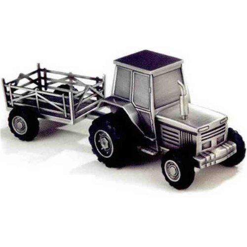 Elegance Pewter Plated Tractor Bank