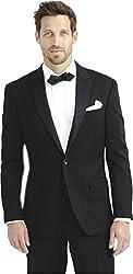 BREGEO FASHION black party festive casual blazer