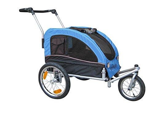 Booyah Medium Dog Stroller & Pet Bike Trailer With Suspension - Blue front-289242