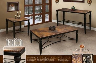 Buy Low Price Artisan Home Furniture Tribecca Square End Table Ifd311end
