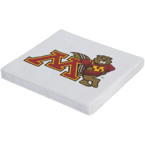 Mayflower Distributing Company 20 Count University of Minnesota Lunch Napkin, Multicolor
