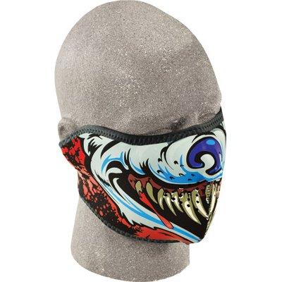 One Size Zan Headgear Blue Chrome Skull Mens Half Face Mask Helmet Accessories