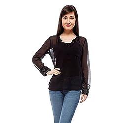 Orous Women's Body Blouse Shirt (Killy001_Black_X-Large)