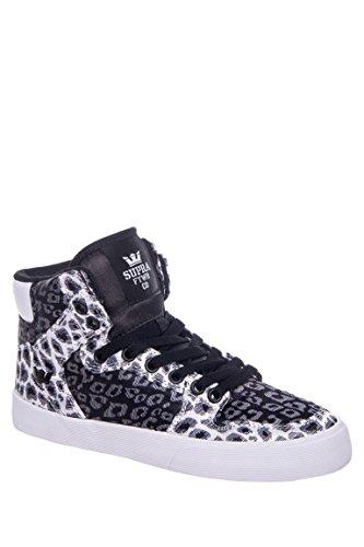 Vaider Snow Leopard Nylon Mid-Top Sneaker