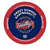 24 Count- Timothys World Coffee Sweet Summer Raspberry Flavored Coffee K Cups For Keurig brewers