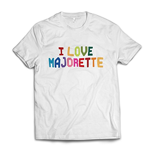 Neonblond I Love Majorette,Colorful American Apparel T-Shirt X-Large