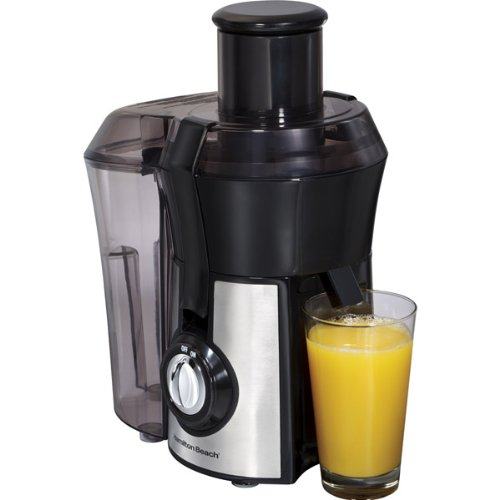 Hamilton Beach 67608 1.1Hp Powerful Stainless Steel Big Mouth Juice Extractor