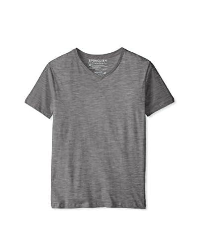 Spenglish Men's Pima Short Sleeve V-Neck T-Shirt