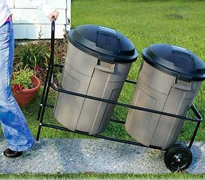 Image Is Loading Garbage Can Cart Rolling Trash Caddy 250 Lb