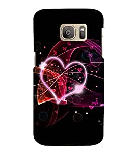 printtech Heart Love Abstract Back Case Cover for Samsung Galaxy S7 / Samsung Galaxy S7 Duos with dual-SIM card slots