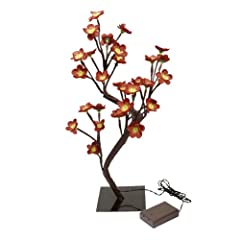 Pfaltzgraff LED 30-Light Flower Tree, Red