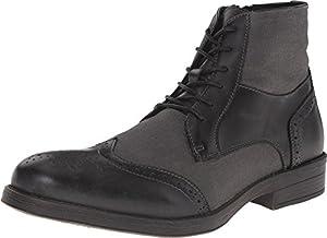 Steve Madden Men's Divon Black Leather Boot 9 D (M)