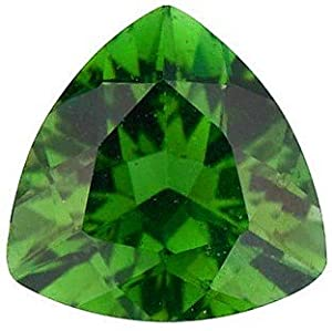 Trillion Shape Green Tourmaline Loose Gemstone, Quality Grade, AAA 5.00 mm