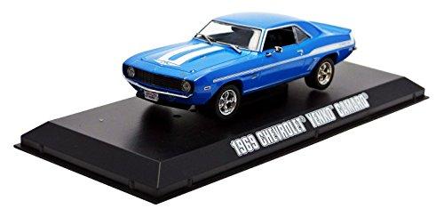greenlight-collectibles-86206-chevrolet-camaro-2fast-2furious-echelle-1-43-bleu-blanc