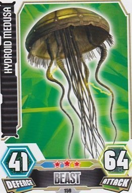 Force Attax Serie 3 No. 159 HYDOID MEDUSA - CREATURE Individuelle Trading Card