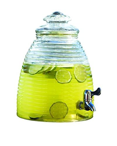 Circleware Beehive 2.3-Gallon Beverage Dispenser, Clear