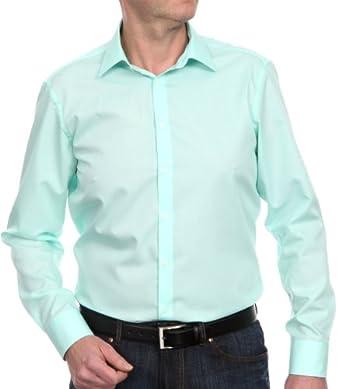 Venti Herren Businesshemd Slim Fit 001480/304, Gr. 37, Grün (304 grün)
