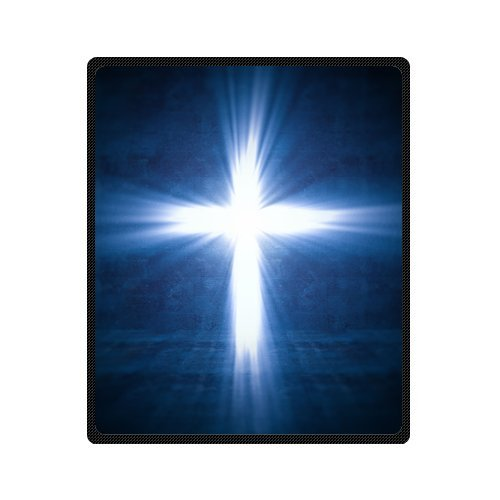 Personalized Fashion Holy Cross Of Light Picture Fleece Blanket 50 X 60 back-1076545
