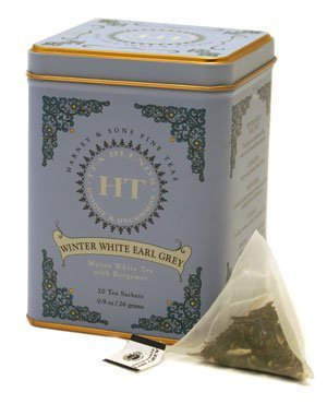 Winter White Earl Grey, 20 Sachets In Tin By Harney & Sons