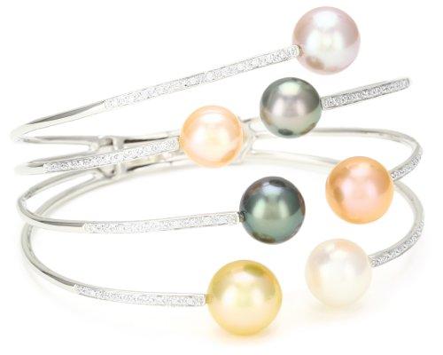 TARA Pearls Multi-Color 8x11mm Pearl Bangle Bracelet