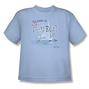 Buy fun boating accessories - Wham-O - Youth Fun Boat T-Shirt In Light Blue, Size: Medium, Color: Light Blue