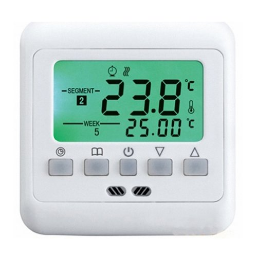 Digital Weekly Programmable Thermostat Underfloor Floor Heating Room Thermostat Lcd Green Backlight For Electric Heating System 16A