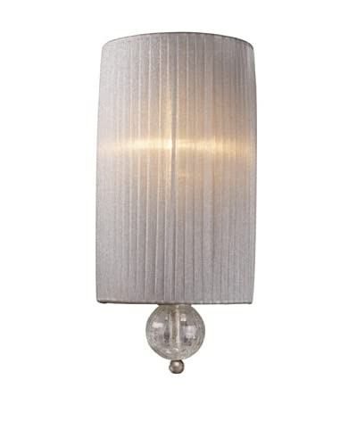 Artistic Lighting Alexis 1-Light Sconce, Antique Silver