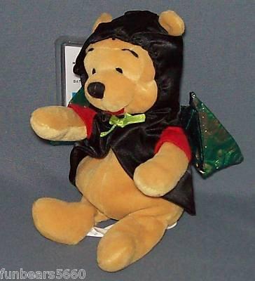 """Disney BAT Pooh Halloween Uk Excl Plush Bean Bag 8"""" by Disney"""