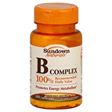 Sundown Naturals B Complex, Tablets, 100 ct.